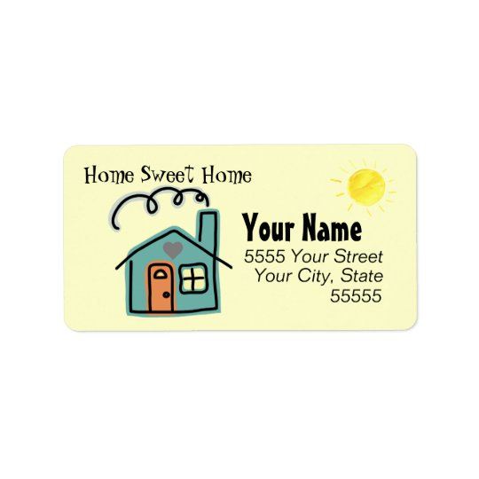 Customised Home Sweet Home Return Address Labels