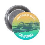 Customised Huntington Beach Pier Illustration 6 Cm Round Badge
