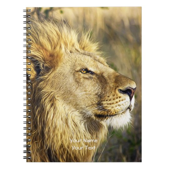 Customised Lion Head Wildcat African Wildlife Notebook