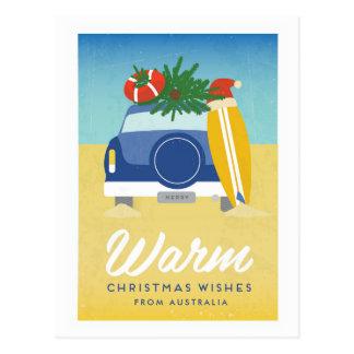 Customised Location Christmas Beach Postcard