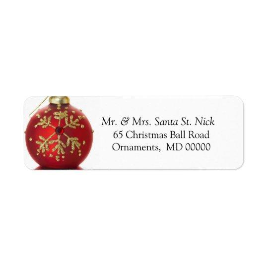 Customised Merry Xmas Holidays Christmas Return Address Label