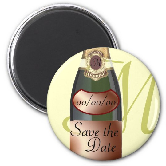 Customised Monogram Save the Date Magnet