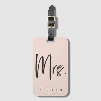 Customised Mrs luggage tag