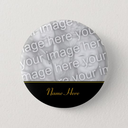 Customised Name Memorial Photo Button