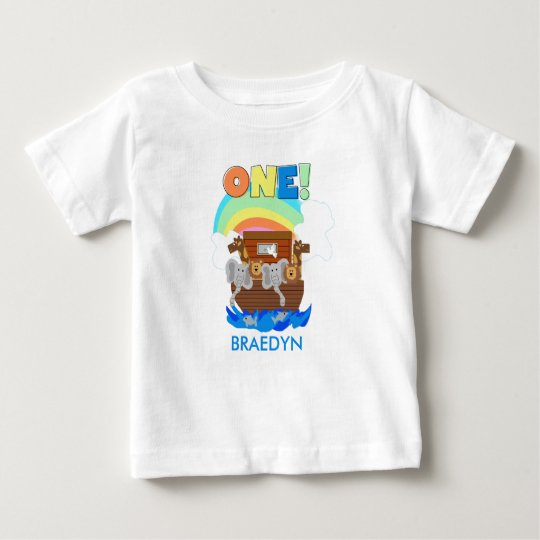 Customised Noah's Ark Baby 1st Birthday T-shirt
