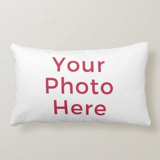 Customised Personalised Photo Double Sided DIY Lumbar Cushion