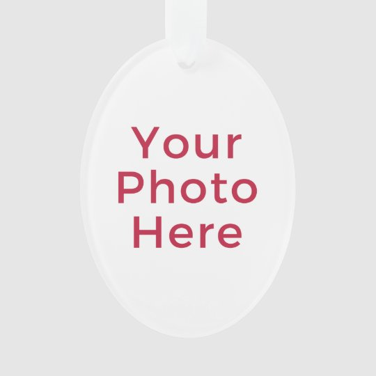Customised Personalised Photo Double Sided DIY Ornament