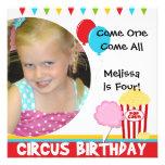 Customised Photo Circus Birthday Invitations