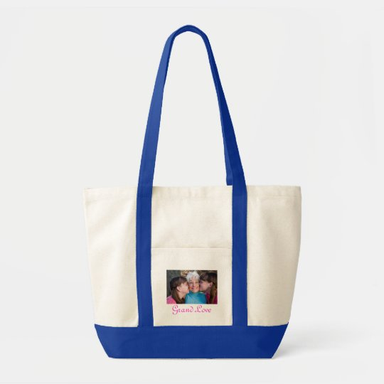 Customised Picture Grandkids Beach Tote Bag