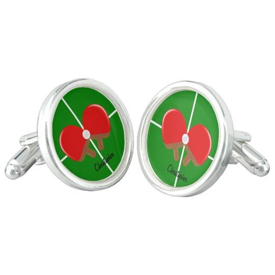 Customised Ping Pong Cufflinks