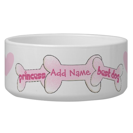 Customised Princess Best Dog Pet Bowl