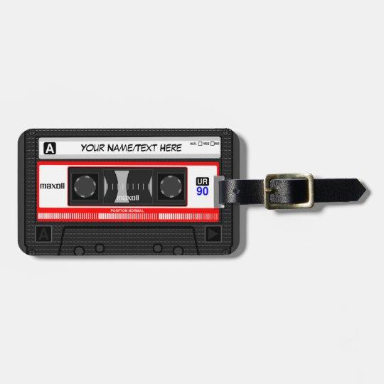 Customised Retro Music Cassette Tape Luggage Tag