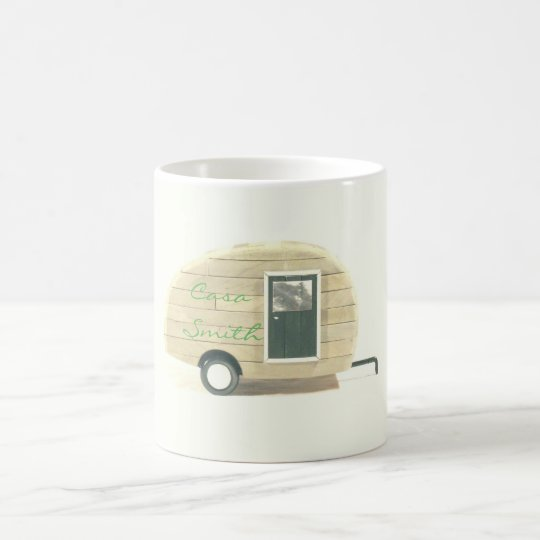 Customised Retro teardrop camper Coffee Mug