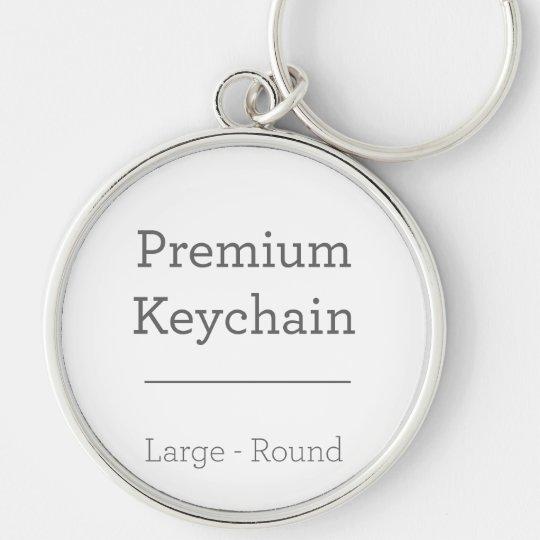 Large (5.4 cm) Premium Round Key Ring