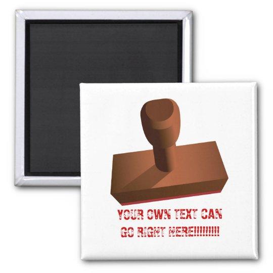 Customised Rubber Stamp impression 1 Square Magnet