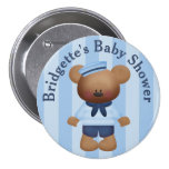 Customised Sailor Bear Baby Shower Button