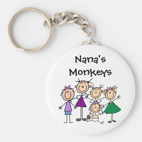 Customised Stick Figure Family Keychains