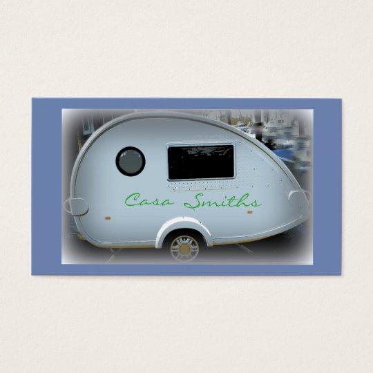 Customised teardrop Vintage camper Business Card