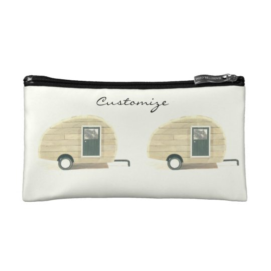 Customised teardrop Vintage camper Cosmetic Bag