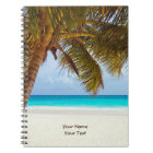 Customised Tropical Chilling Beach Scene Notebook