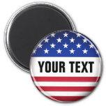Customised USA Magnet