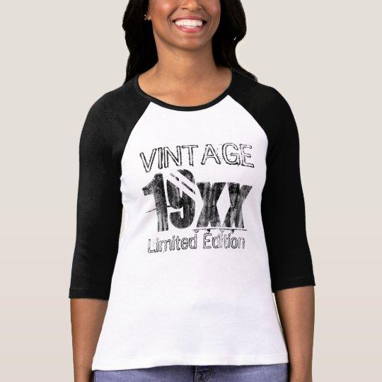 Customised Vintage Limited Edition Birthday T-Shirt