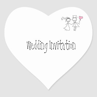 Customised Wedding Invitation Seals Heart Sticker