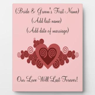 Customised Wedding or Anniversary Plaque