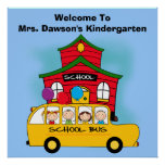 Customised Welcome to School Classroom Poster