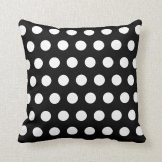 Customised white polka dot pillow