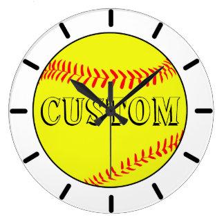 Customised White Softball Wall Clock