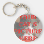 Customised Your Cat's Photo Basic Round Button Key Ring