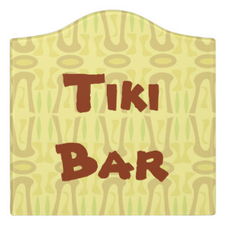Customixable Tiki Background Door Sign