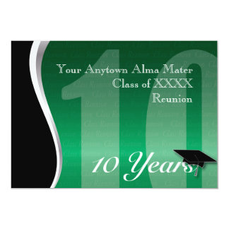Customizable 10 Year Class Reunion 13 Cm X 18 Cm Invitation Card