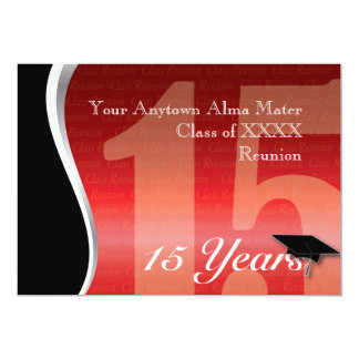 Customizable 15 Year Class Reunion 13 Cm X 18 Cm Invitation Card