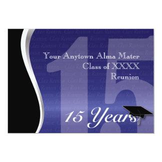 Customizable 15 Year Class Reunion 13 Cm X 18 Cm Invitation Card