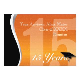 Customizable 15 Year Class Reunion Card