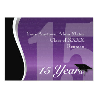 Customizable 15 Year Class Reunion 5x7 Paper Invitation Card