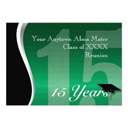 Customizable 15 Year Class Reunion Custom Invites