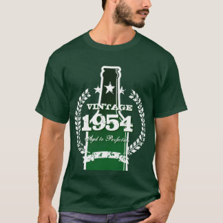 Customizable 1954 vintage beer bottle label shirt