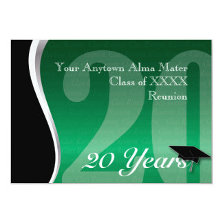 Customizable 20 Year Class Reunion 13 Cm X 18 Cm Invitation Card