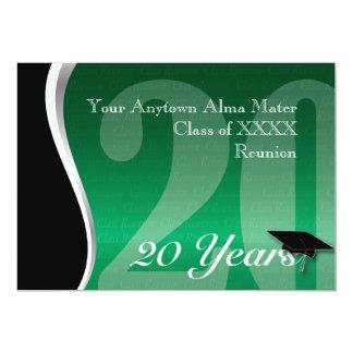 Customizable 20 Year Class Reunion Card