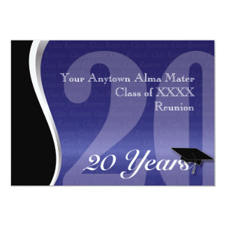 Customizable 20 Year Class Reunion 5x7 Paper Invitation Card