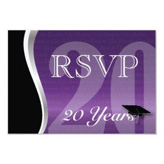 Customizable 20 Year Class Reunion RSVP 9 Cm X 13 Cm Invitation Card