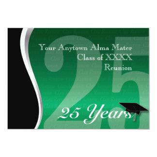 Customizable 25 Year Class Reunion 13 Cm X 18 Cm Invitation Card