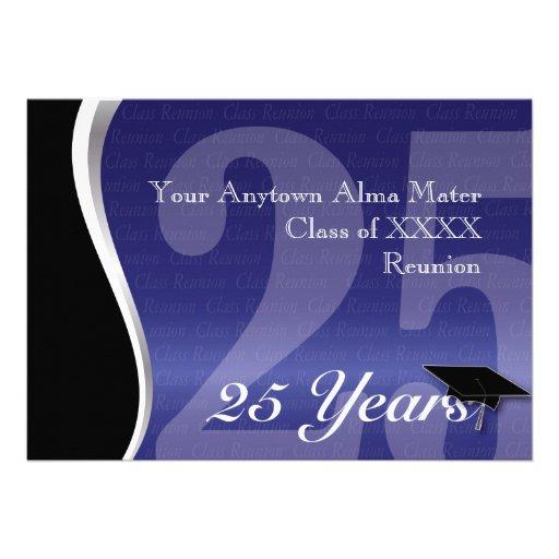 Customizable 25 Year Class Reunion Invite