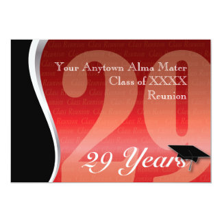 Customizable 29 Year Class Reunion 13 Cm X 18 Cm Invitation Card