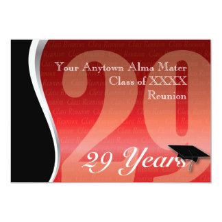 Customizable 29 Year Class Reunion Invitation