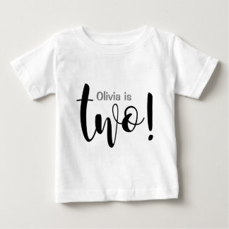 Customizable 2 Year Old Baby Girl T-shirt