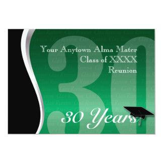 Customizable 30 Year Class Reunion 13 Cm X 18 Cm Invitation Card
